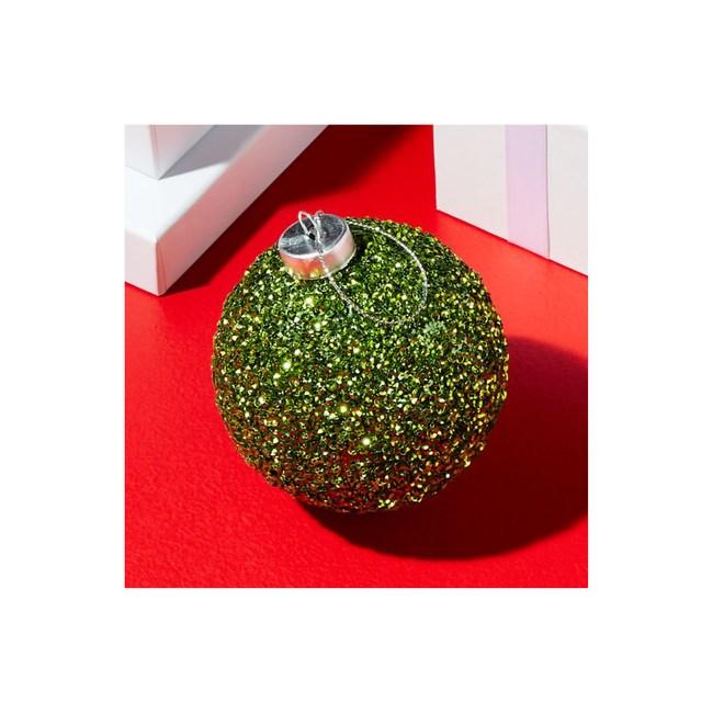 Crate&Barrel Glitter 球型吊飾 綠(L)