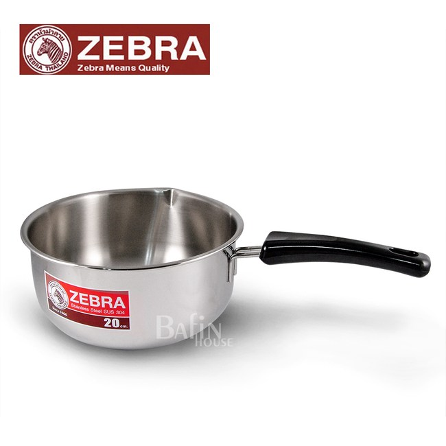 【Zebra 斑馬】#304不鏽鋼雪平鍋 20公分