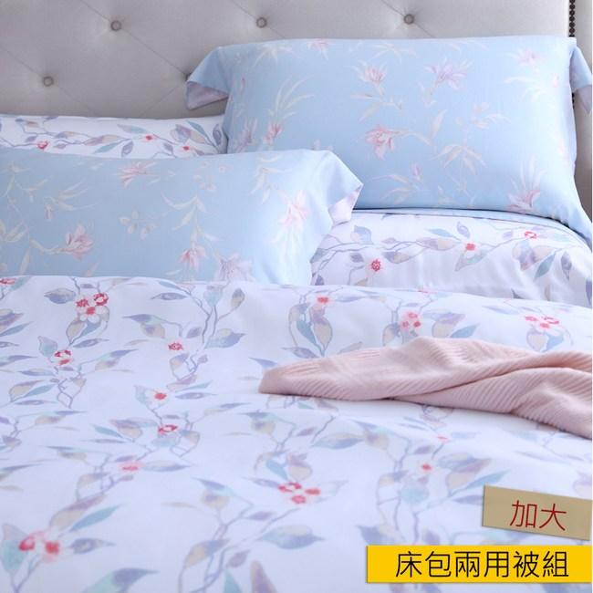 HOLA 夏光天絲床包兩用被組加大