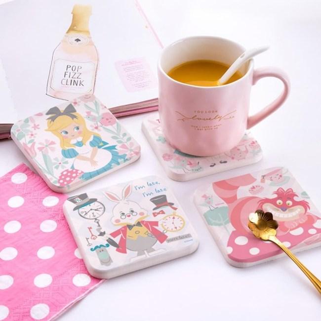 【收納王妃】愛麗絲夢遊仙境杯墊(2入一組)森林朋友