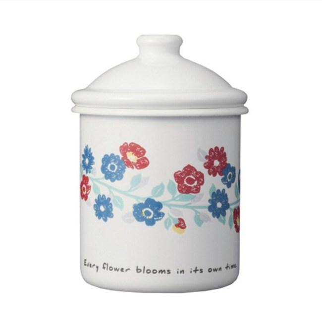 【預購】CB JAPAN北歐系列珐瑯置物罐│花彩白花彩白