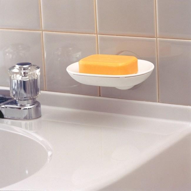 日本LEC壁面檯面兩用式吸盤皂盤