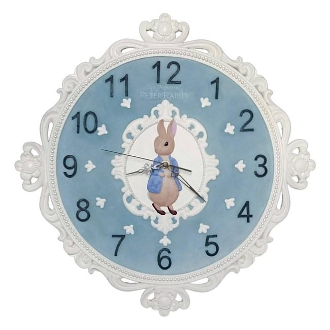 原廠授權比得兔Peter Rabbit彼得兔-比得兔古典風壁掛鐘