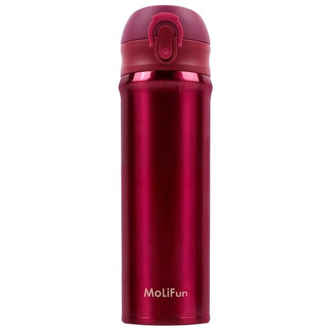 MoliFun魔力坊 316輕量真空彈蓋杯保冰保溫杯500ml-玫瑰紅