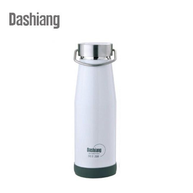 Dashiang 316不鏽鋼380ml真水品樂瓶-白色 DS-C34-380