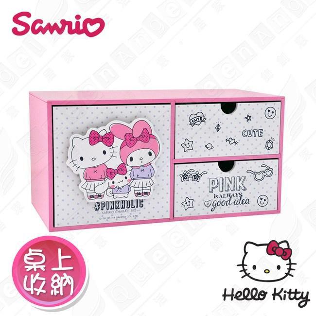 【Hello Kitty】桌上橫式大容量收納盒 桌上收納 文具收納