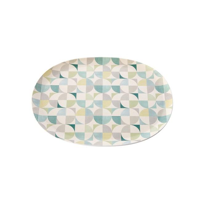 HOLA 曼蒂美耐皿橢圓托盤30cm幾何