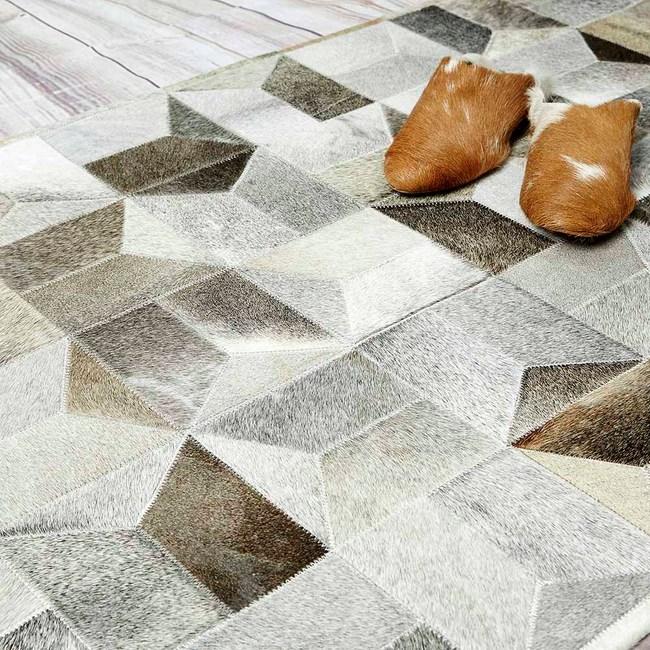 冰島-時尚現代進口天然牛皮短毛地毯/地墊(120×75cm)