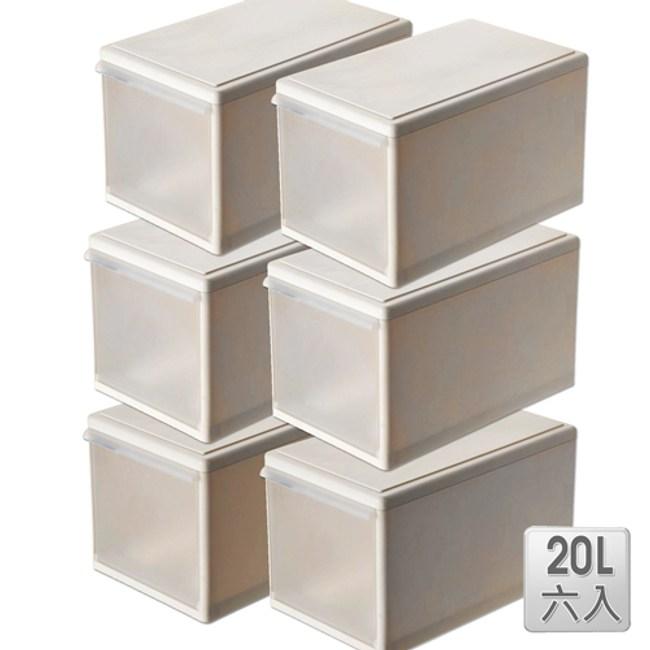 【收納屋】「GD積木式」20L 抽屜整理箱 (六入)