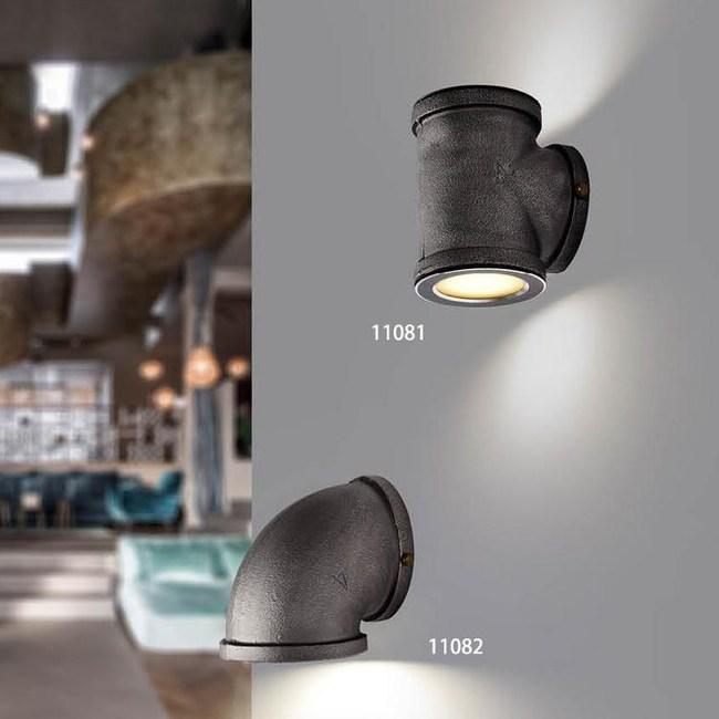 【YPHOME】工業風仿水管壁燈  (圖右上/上下照)