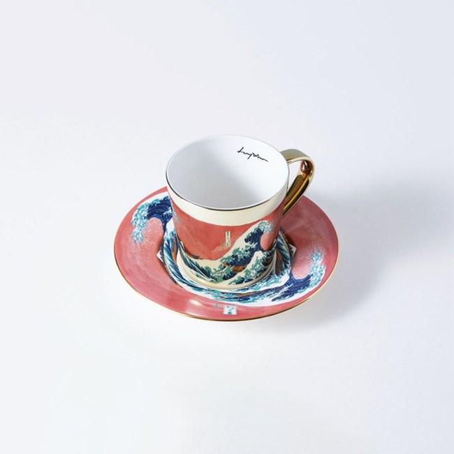 Luycho 鏡面倒影動物圖案咖啡杯-神奈川沖浪裏 (致敬)
