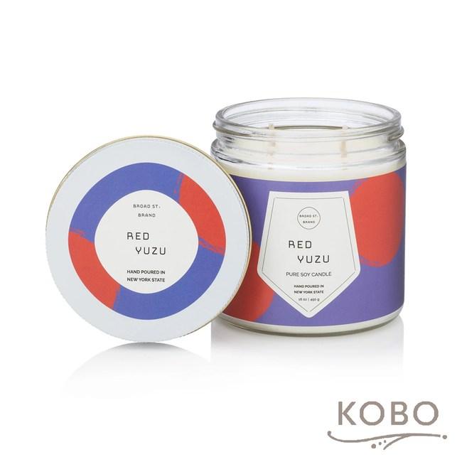【KOBO】 美國大豆精油蠟燭-柚香玫瑰-450g/可燃燒65hr
