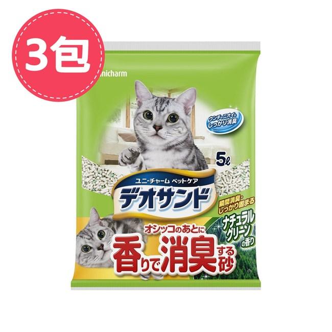 【Unicharm】日本消臭大師消臭礦砂森林香 5LX3包