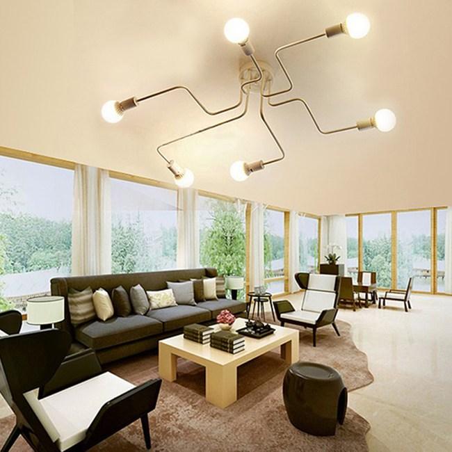 HONEY COMB 工業風火線幾何吸頂燈 雙色款 6光源 白色 TA8011