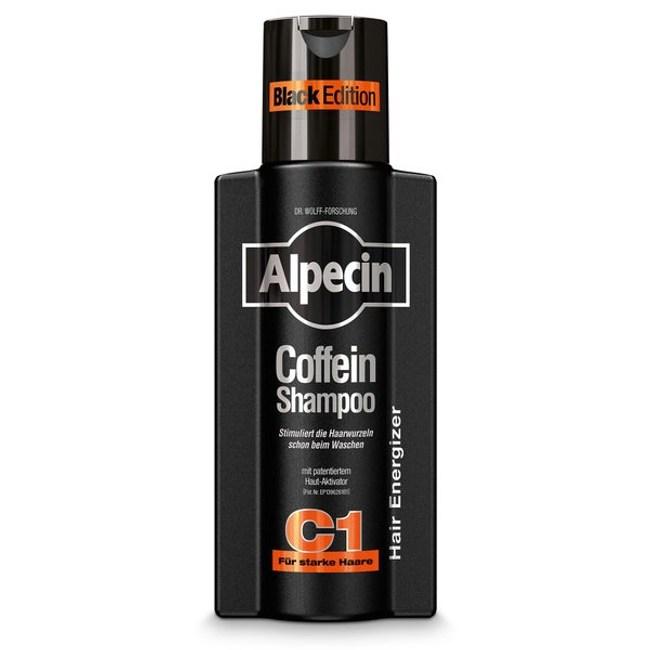 【Alpecin】咖啡因洗髮露Black -柑橘+麝香 250ml*3