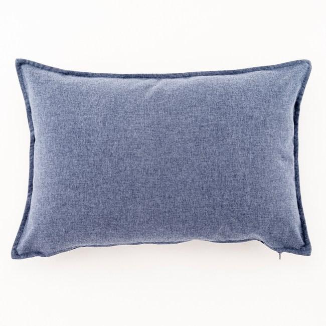 HOLA 馥芮素色壓邊羽絲棉抱枕 40x60cm 深邃藍