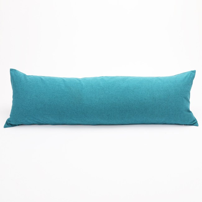 HOLA 素色磨毛羽絲棉抱枕 40x120cm 藏藍