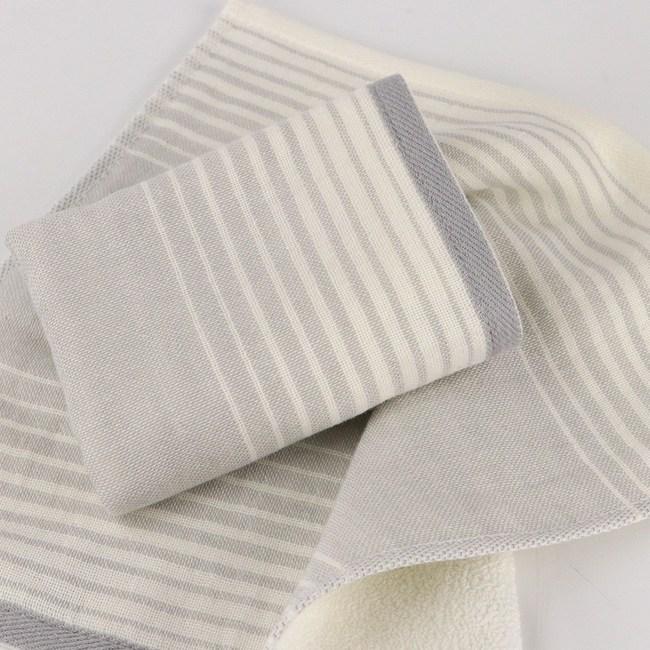 和風無撚紗布漸層小手巾 灰 24x24cm