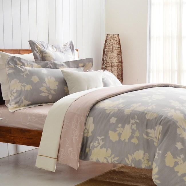 【Cozy inn】千玉-300織精梳棉四件式兩用被床包組(雙人)