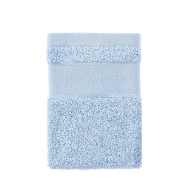 輕柔美國棉方巾-藍 34x34cm