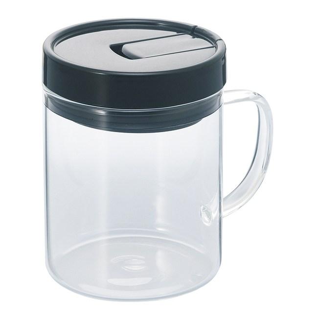 【HARIO】把手咖啡保鮮罐M黑色 / MCNT-S-B