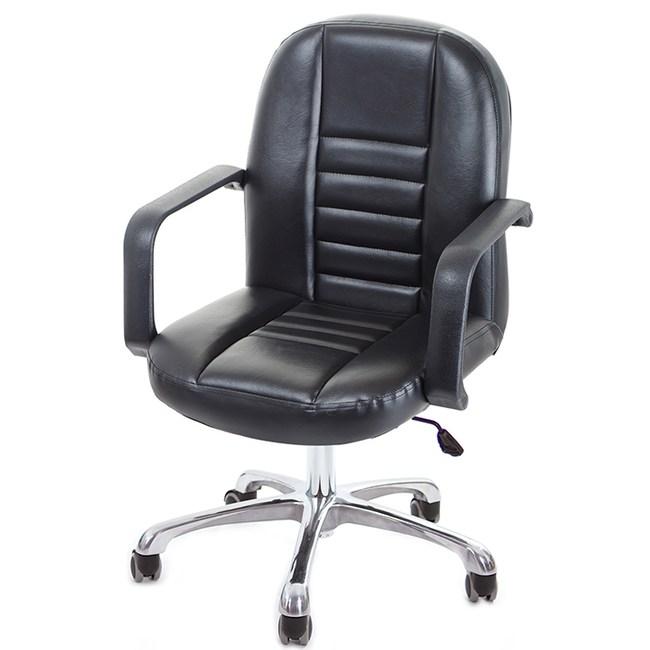 GXG 短背皮面 電腦椅(可後躺/鋁合金腳)TW-1023 LUK