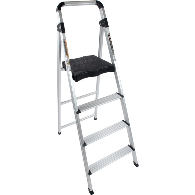 特力屋四階鋁製輕便寬踏板梯