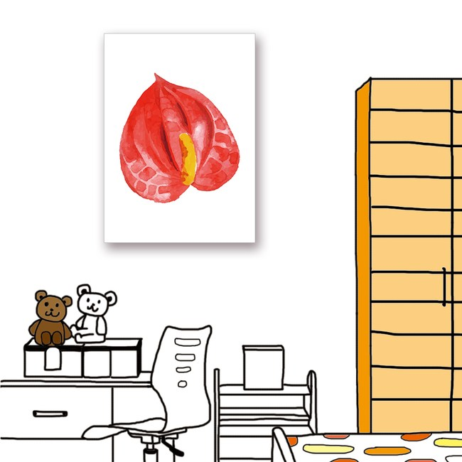 【24mama 掛畫】單聯式油畫布無框畫_40x60cm_熱帶植物1