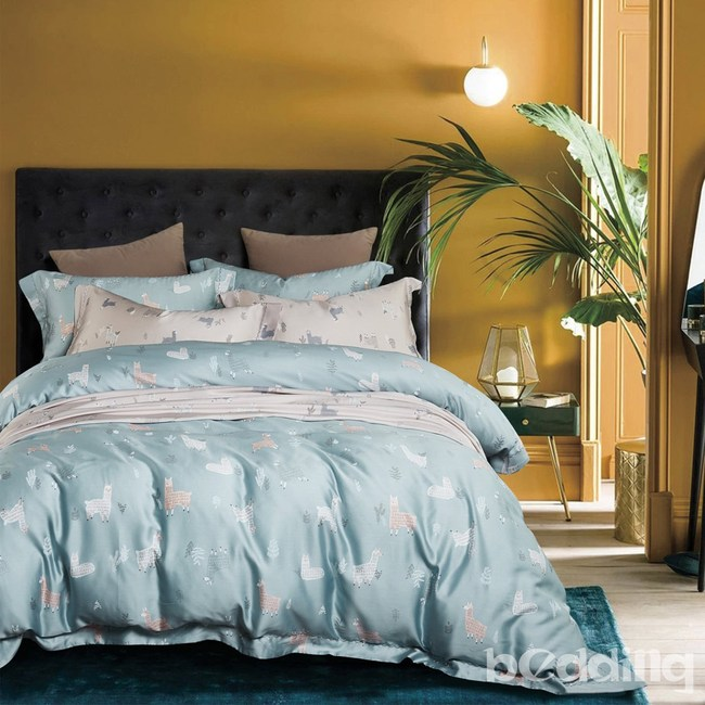 BEDDING-100%天絲三件式枕套床包組-清新派藍(雙人)
