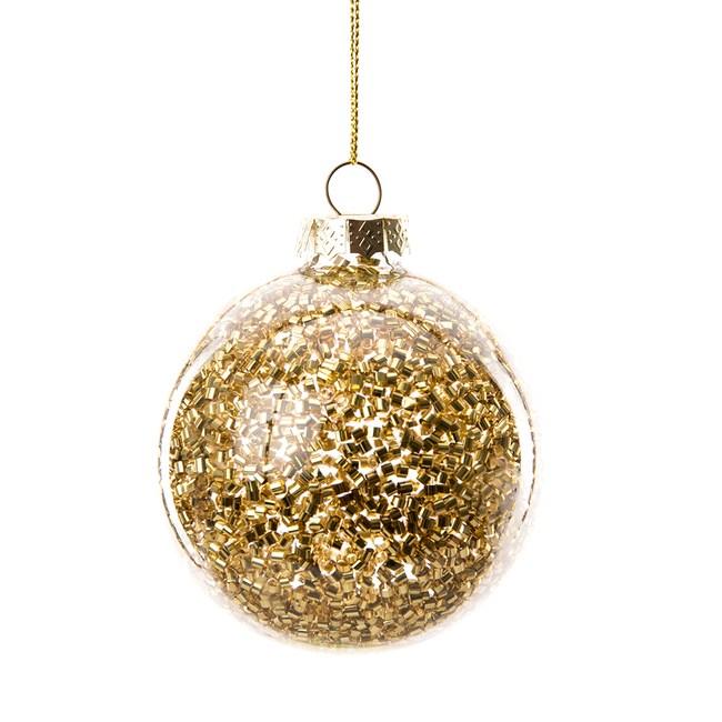 金鑽玻璃球吊飾80mm