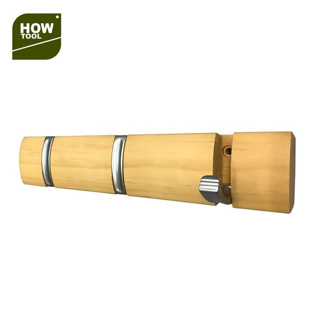 隱藏式木板掛鉤 三鉤款 霧鎳色