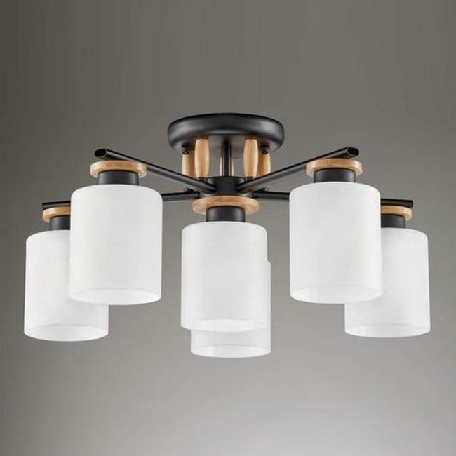 YPHOME  白玉玻璃5燈半吸頂燈 FB33734