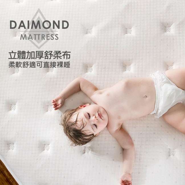 【obis】晶鑽系列_MONET三線五段式乳膠獨立筒無毒床墊雙人特大6*7尺