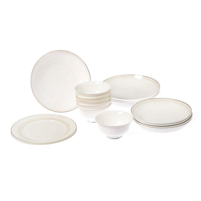 HOLA 艾莉娜骨瓷16件餐具組 可微波