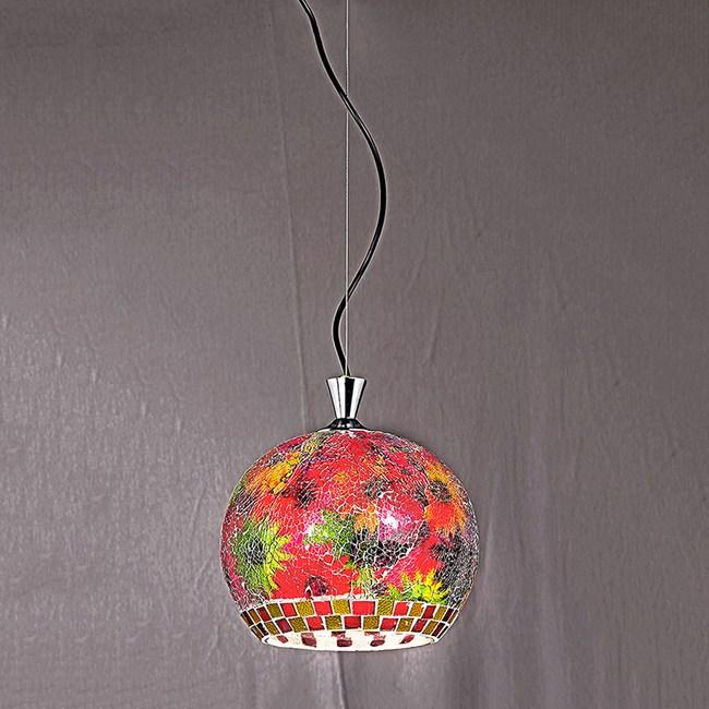 【星星點燈】加拿大楓葉紅彩繪玻璃吊燈 31872