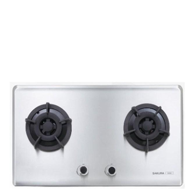 (全省安裝)櫻花雙口檯面爐G-2522SL瓦斯爐桶裝瓦斯