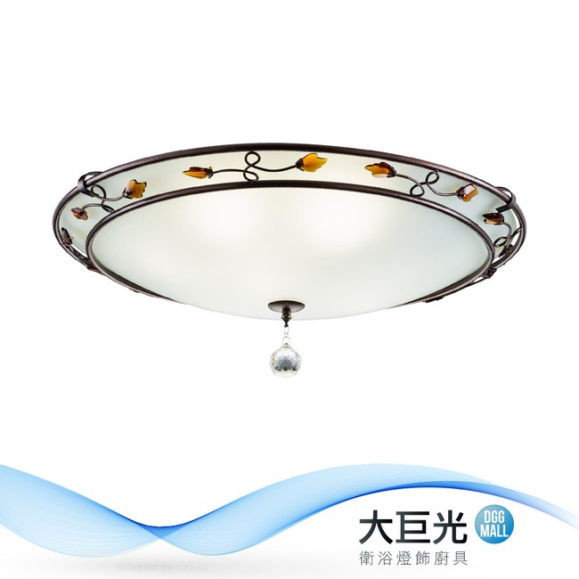【大巨光】古典風6+1燈吸頂燈-中(BM-22053)