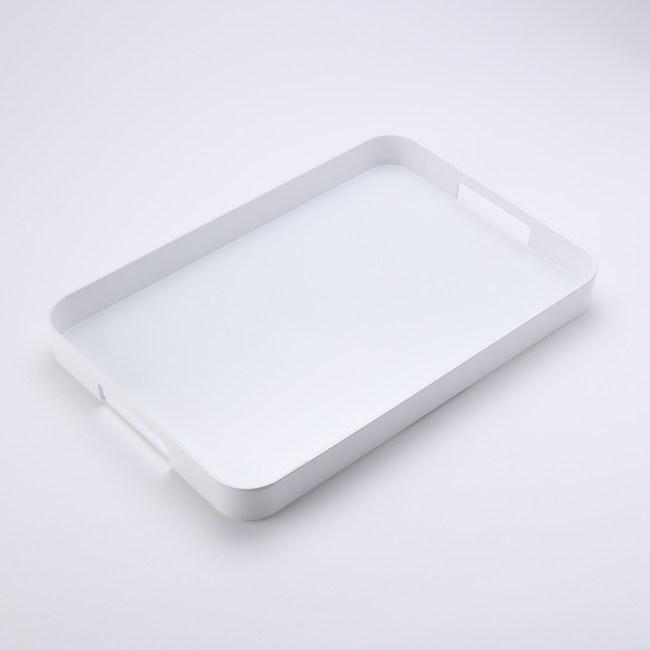 HOLA 原質長形美耐皿托盤 白