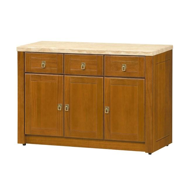 【YFS】尤萊樟木4尺石面餐櫃下座-121x44x82cm