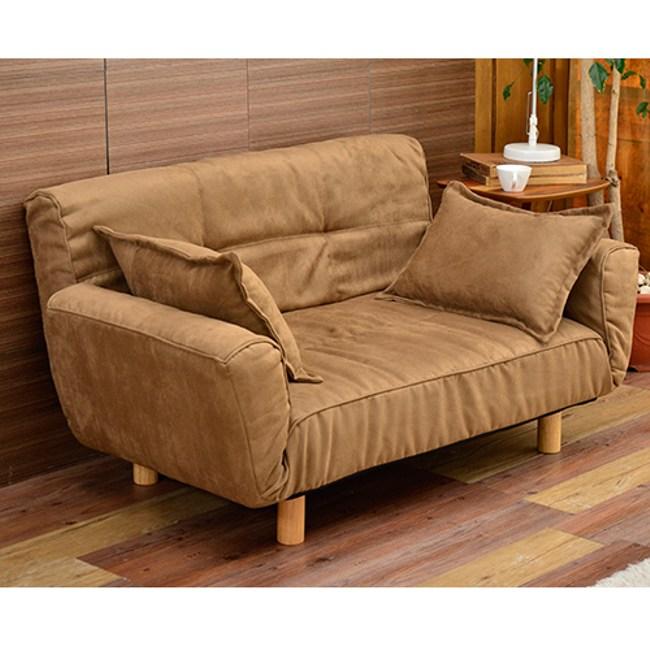 【班尼斯】鳳妃妃獨立筒貴妃椅 布套可拆洗+天然實木腳沙發床-咖啡摩卡