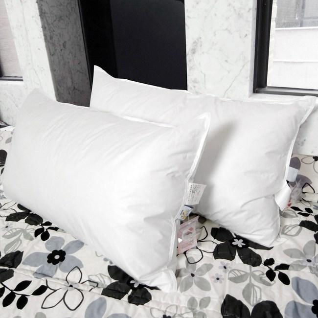 【凱蕾絲帝】台灣製造100%純天然超澎柔羽絨枕(二入)