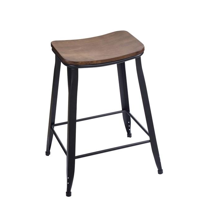 工業風木質吧檯椅(1P/4)-無靠背