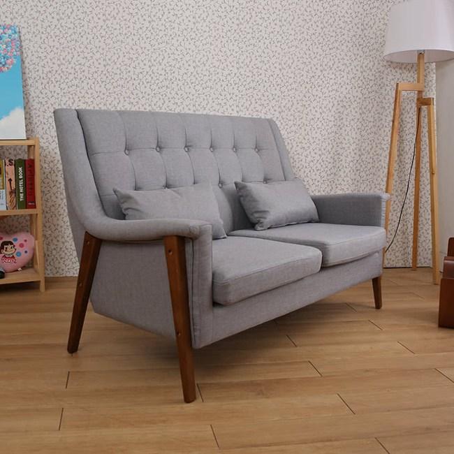 【諾雅度】Ronnie英式羅妮高背雙人沙發(2色)灰色
