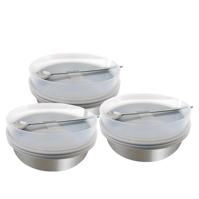 日本ECHO 不銹鋼調味料罐附蓋杓(3入組)