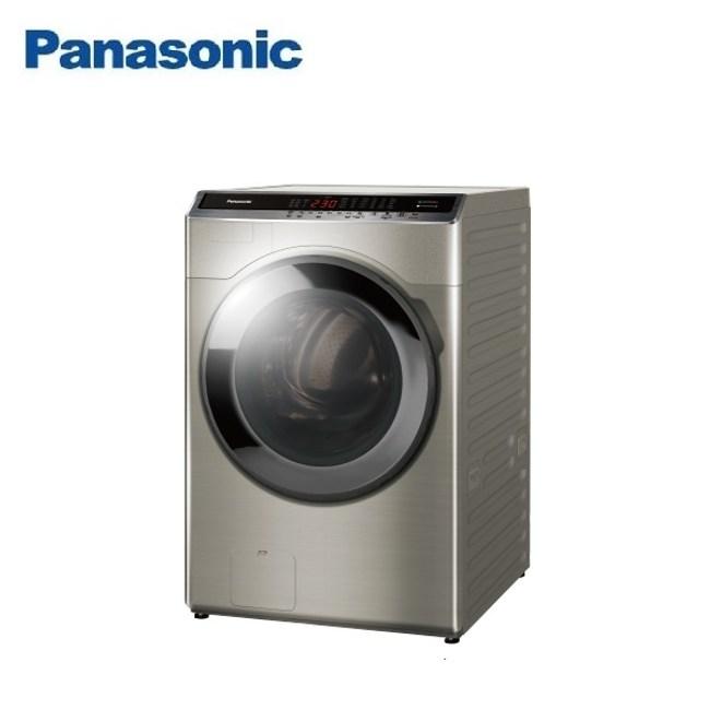 (含基本安裝)Panasonic國際18公斤洗脫烘滾筒洗衣機NA-V180HDH-S
