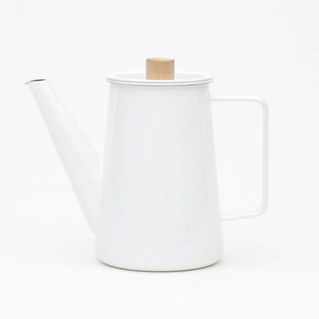日本《kaico》 簡約風 琺瑯咖啡手沖壺