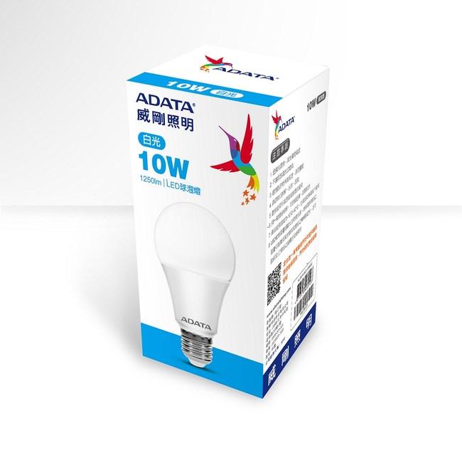 ADATA威剛 10W 高效能LED球泡燈-白光(6入)AL-BUA19C2-10W65C