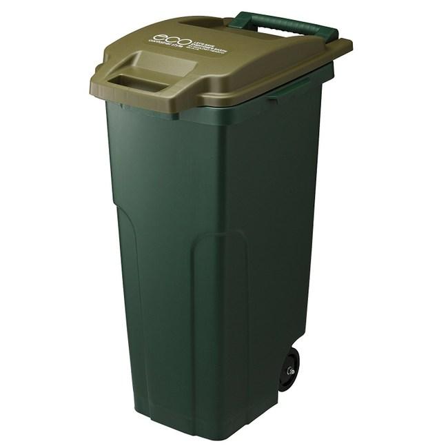 【日本RISU】戶外型大容量連結式垃圾桶 70L-深綠色