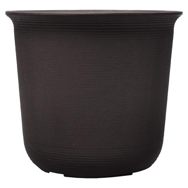 Luder 塑質素陶盆1尺 咖啡