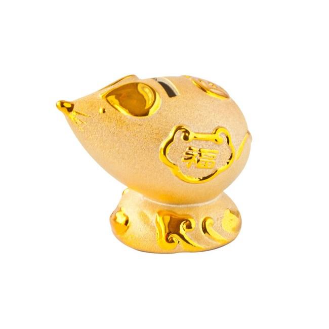 金錢鼠陶瓷擺飾10cm